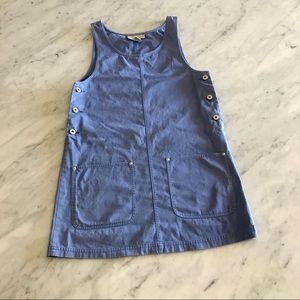 Vintage EXPRESS denim jumper dress size S